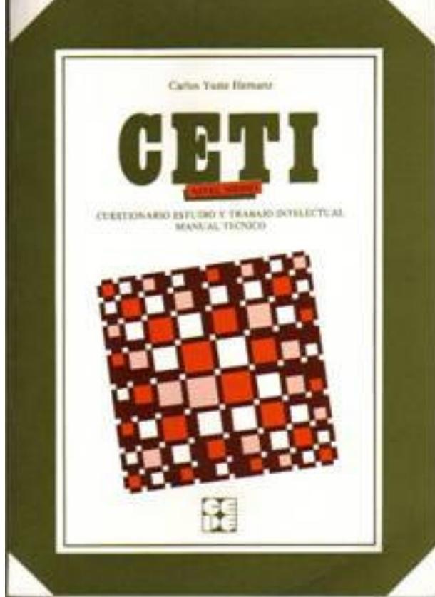 CETI Medio. Cuestionario de estudio y trabajo intelectual. Nivel 11 a 15 años.