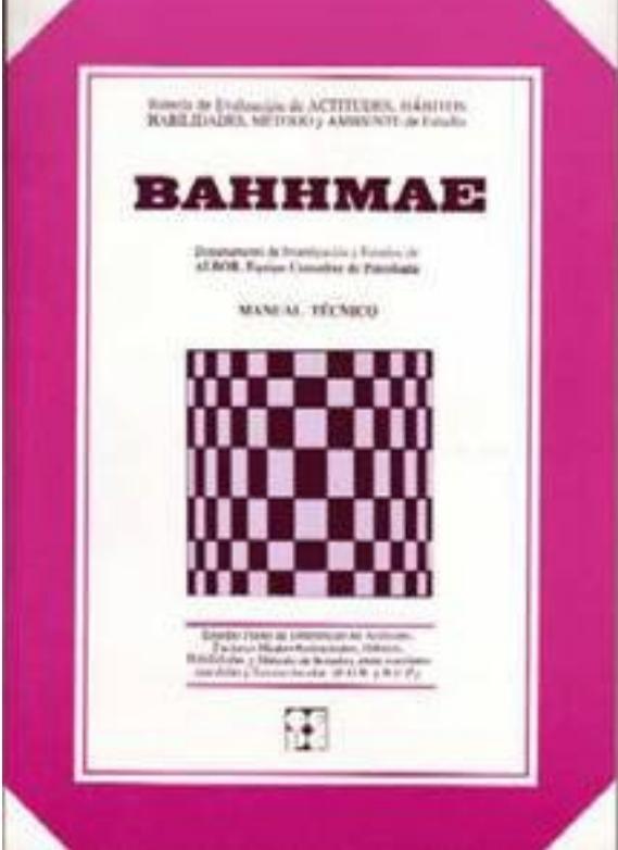 BAHHMAE. Batería para la Evaluación de Actitudes, Hábitos, Habilidades, Método y Ambiente del Estudio. 12-18 años.