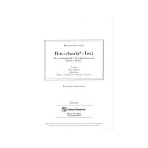 Rorschach inkblot Test. Láminas