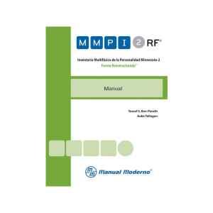 MMPI-2-RF (Recarga 25 usos electrónicos) Inventario Multifásico de la Personalidad Minnesota-2. Forma Reestructurada