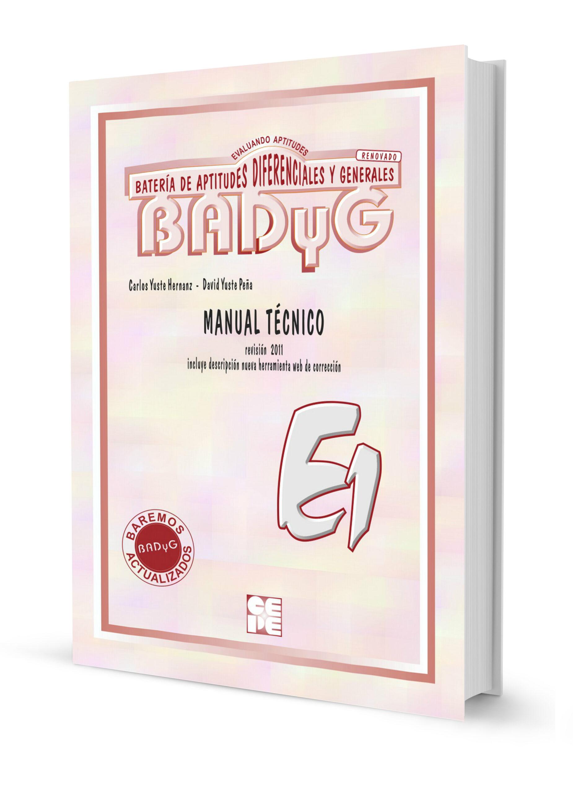BADYG E1 – Bateria de aptitudes diferenciales y generales.